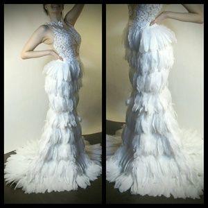 Dresses & Skirts - Luxury Feather Gown / Couture Wedding Gown